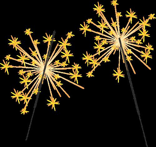 sparklers fire spray