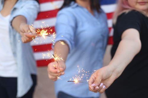 sparklers burning fireworks