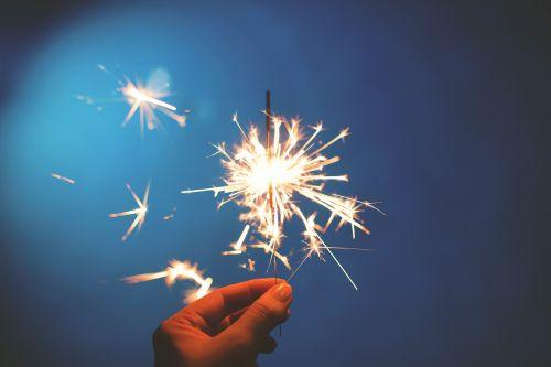 sparklers hands lights