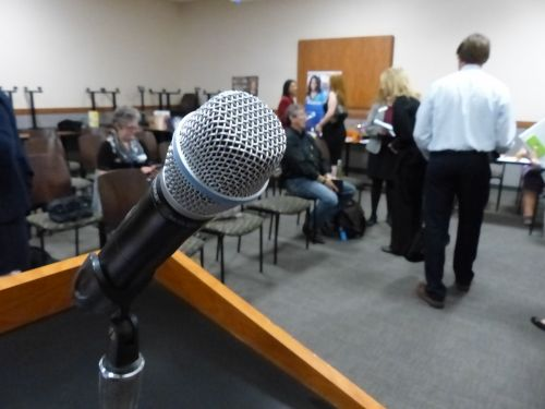 Speaker's Microphone At The Lectern