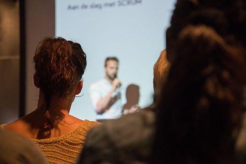 speaking presentation man