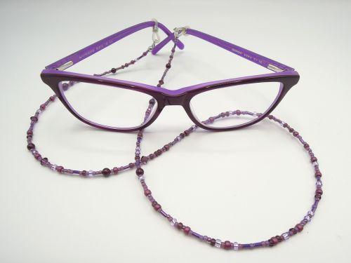 specs glasses chain purple