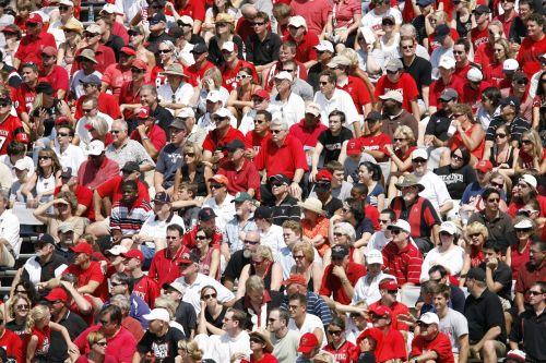 spectators crowd stadium
