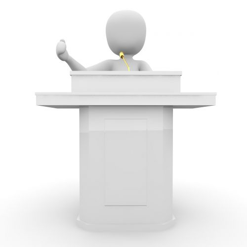 speech stage lecture