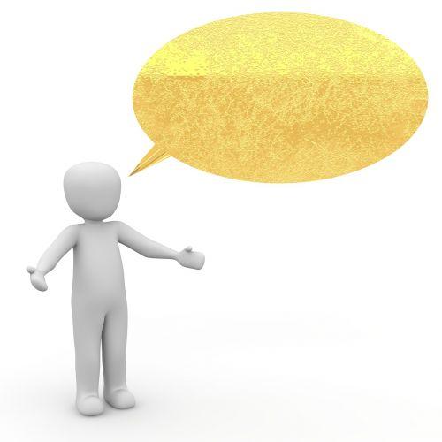 speech balloon talk