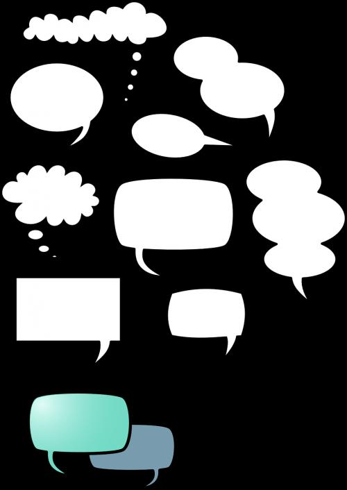 speech balloon thinking