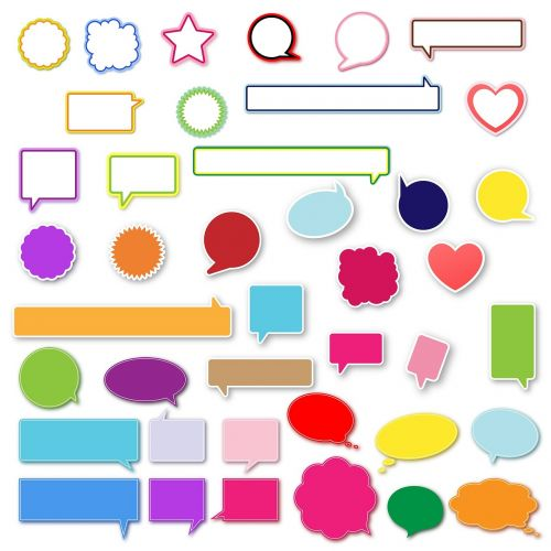 speech bubbles design