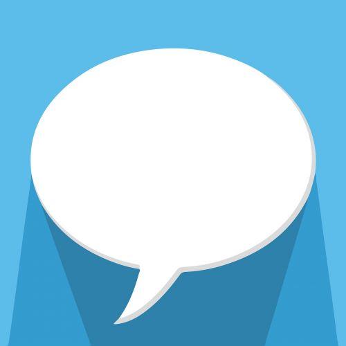 speech bubble talking chat