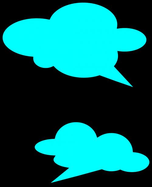 speech bubbles blue communication