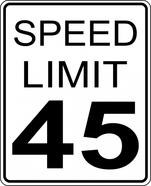 speed limits sign