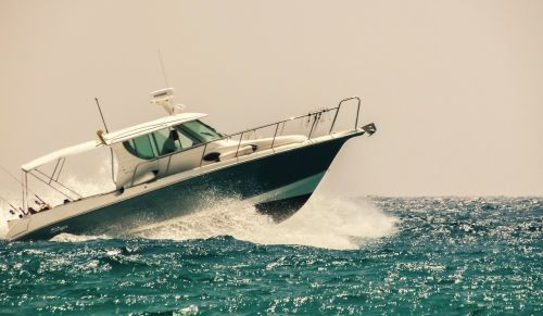 speed boat sea water