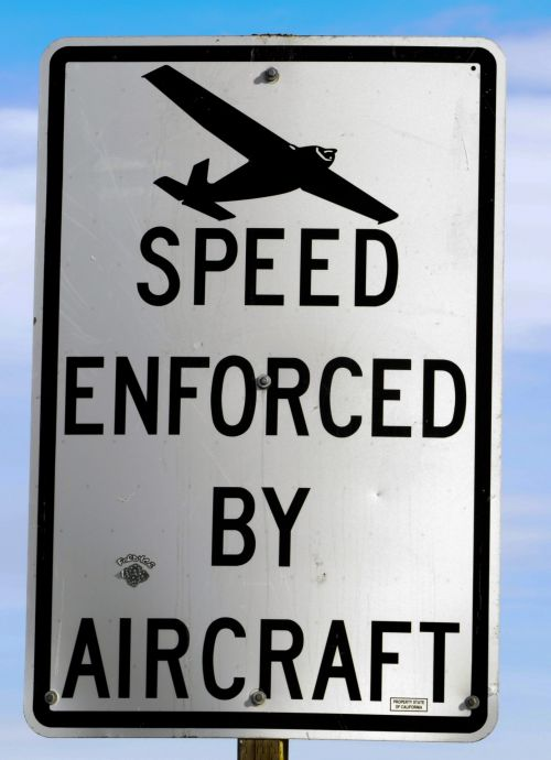 Speed Enforced Sign
