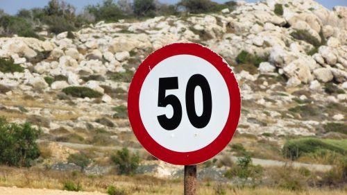 speed limit sign maximum