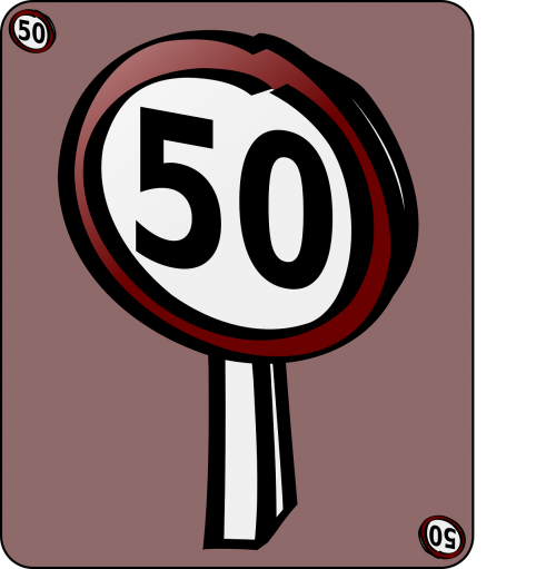 speed limit speed road sign