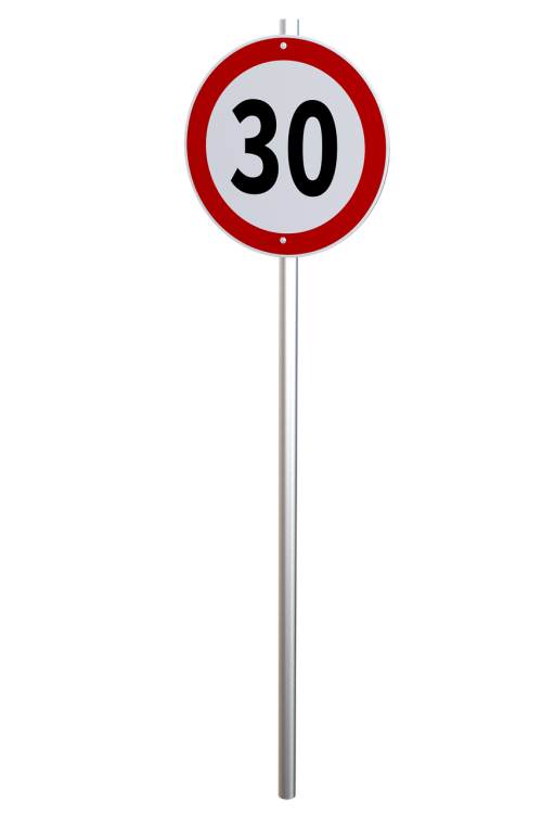 speed limit traffic sign regulation