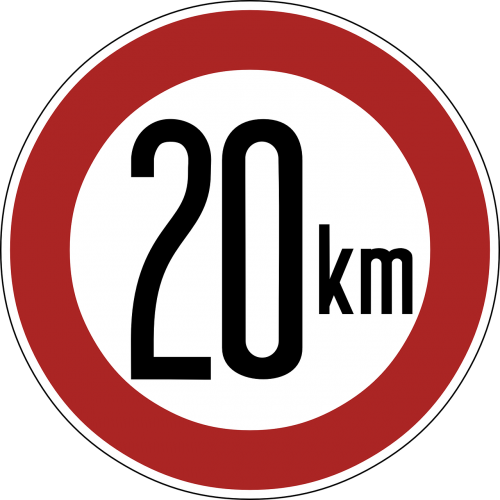 speed limit sign 20 km