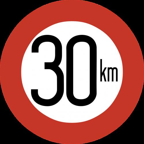 speed limit sign 30 km