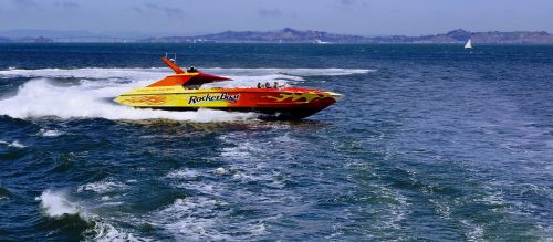 speedboat water boat