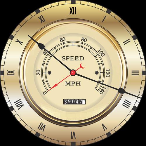speedometer  vintage  clock