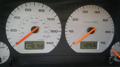 speedometer instrument cluster mileage