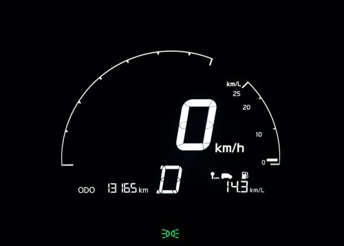 speedometer the instrument panel dash board lights