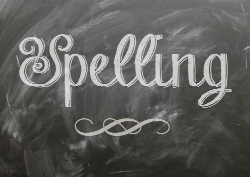 spelling language blackboard