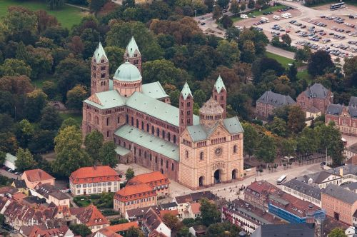 speyer cathedral aerial view
