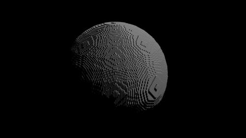 sphere cubes graphic art