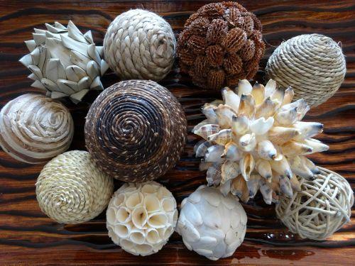 spheres decoration tray