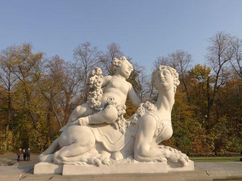 sphinx putto sculpture