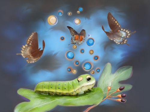 spicebush swallowtail caterpillar fantasy
