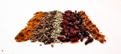 spices barberry basil