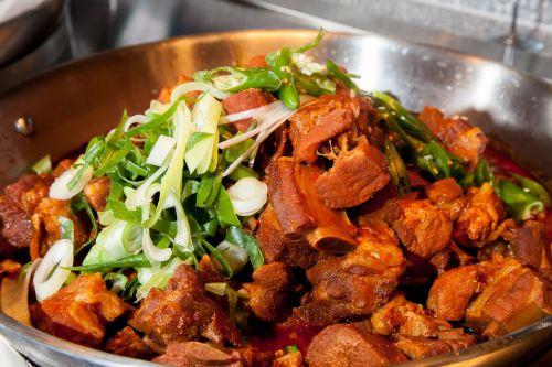 spicy ribs ribs food