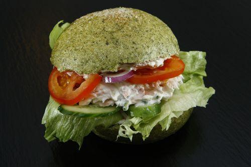 spinach dumpling sandwich bun salad