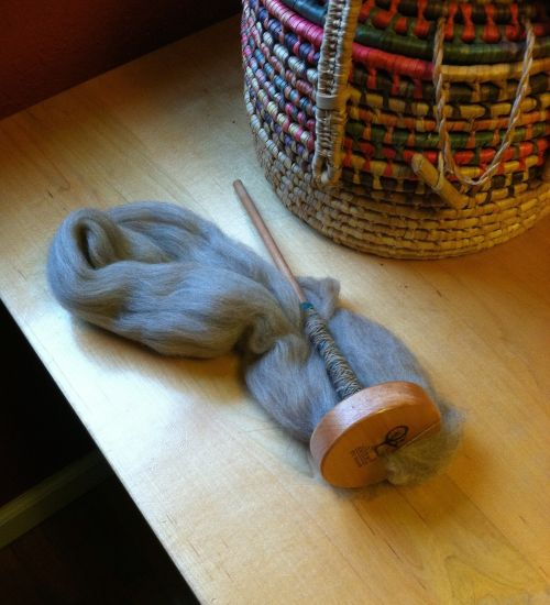 spindle wool knitting