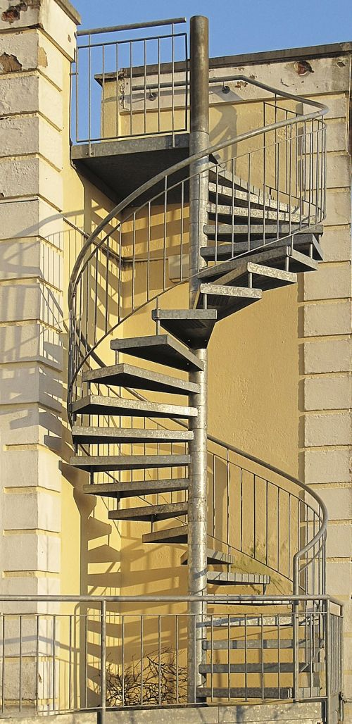 spindle staircase external staircase spiral staircase