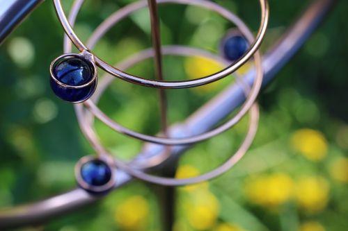 spiral garden blue