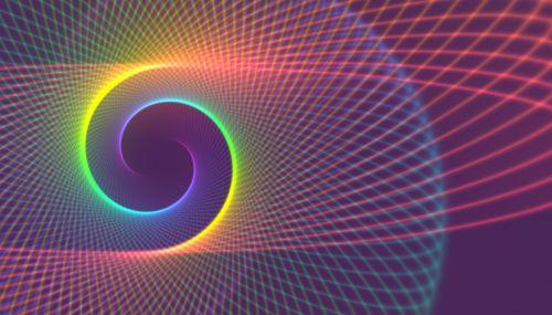 spiral bright slightly