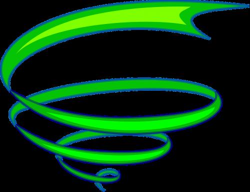 spiral ribbon green