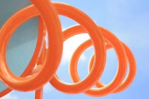 spiralė, oranžinė, modelis, sūkurys, kreivė, nugara