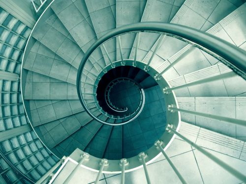 spiral staircase stairwell