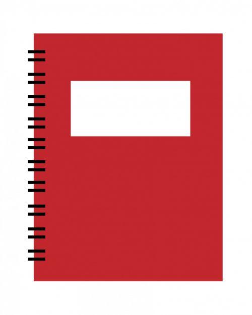 nešiojamojo kompiuterio, pažymėkite & nbsp, knygą, spiralė, raudona, Iliustracijos, menas, iliustracija, balta, fonas, pagrindinis, paprastas, kontūrai, Laisvas, vaizdas, viešasis & nbsp, domenas, spiralės nešiojamojo kompiuterio raudona spalva