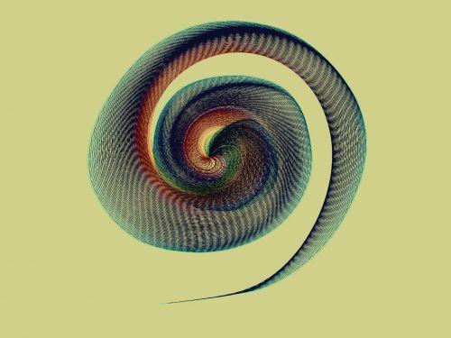 Spiral On Creamy Background