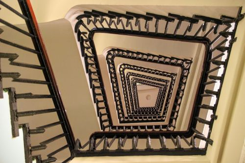 spiral staircase stairs railing