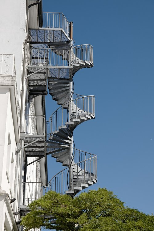 spiral staircase  house  stairs