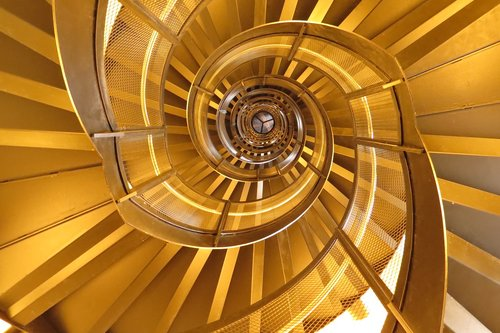 spiral staircase  architecture  emergence