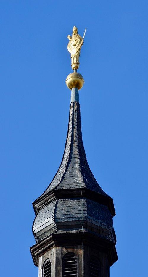 spire  steeple  gold