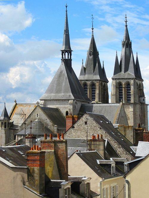 spires chimneys church