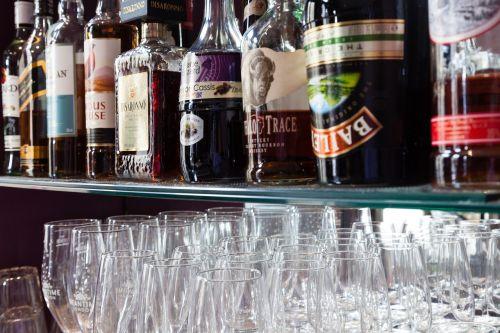 spirits bottle bar