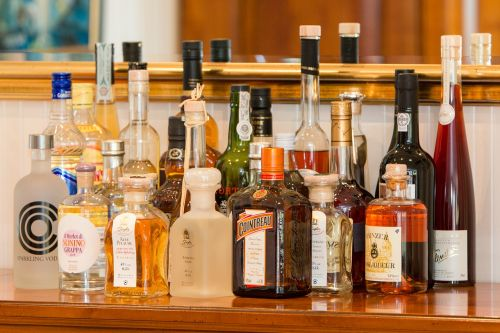 spirits bottles alcohol
